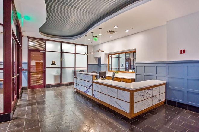 Brand new lobby with 24-hour concierge and package receiving, including refrigerated storage
