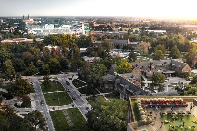 View of MSU Campus & Downtown EL - The Abbot - Limited Availability For Fall 2020 - Apply Today! Apartments