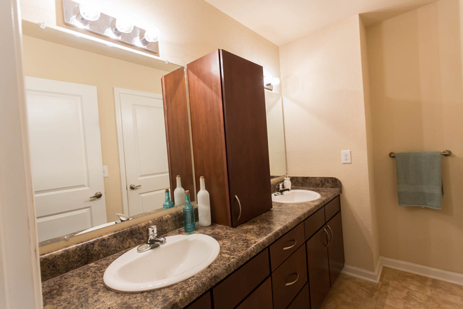 Double Sinks - The VUE at College Square Townhome