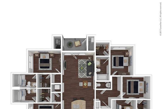 D1 4 bedroom floorplan