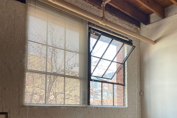 Large industrial windows
