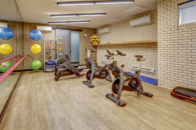 Yoga and cycling room