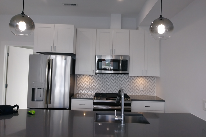 Kitchen, Island & Stainless Appliances - NEW Construction Furnished Master Bdrm/Bath - Penthouse Condo