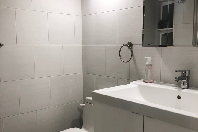 Bathroom - Sunny and Modern Apartment Close to AU Campus with 2 Bedrooms & 1 Bath