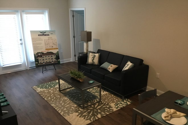 Fully furnished living room - Seahawk Cove - Now Leasing for Fall 2020 Apartments