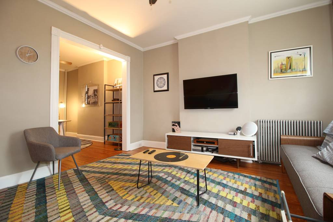 Living Room - Basement Unit in Charming Art-Filled House - All Utilities and Biweekly Cleaning Included Townhome