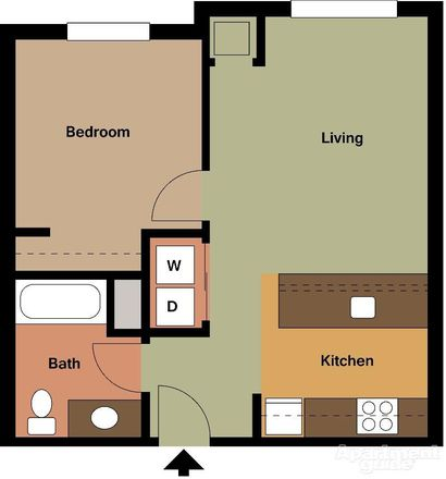 Family Housing, 1 bedroom layout