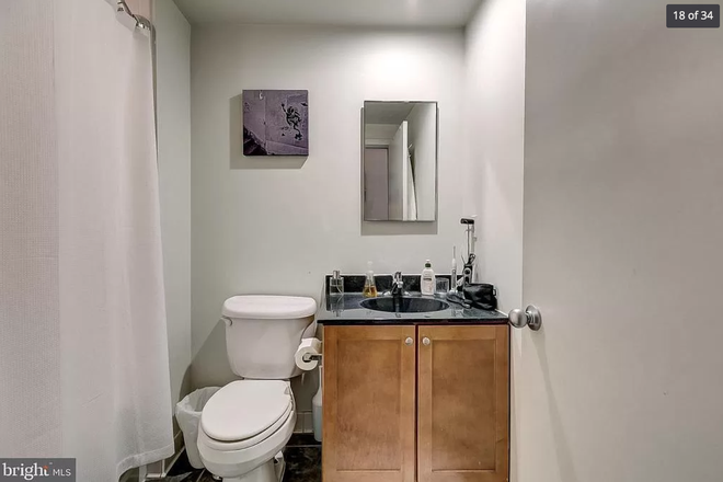 bathroom - 1211 light st #402 - Top floor 1 bedroom huge private deck VIEWS lots of storage & dedicated parking Apartments
