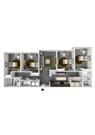 Apartment Layout - OPEN ROOM AVAILABLE Apartments