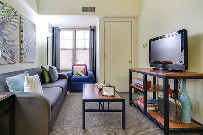 Living Room - University Village Apartments