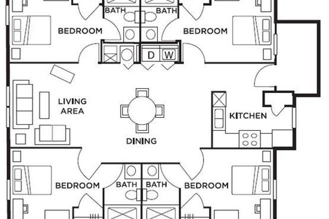 4 Bed/4 Bath floorplan