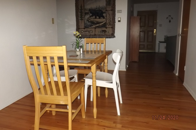 DINING ROOM FROM PATIO DOOR - BEDROOMS FOR RENT NEAR ANSCHUTZ MEDICAL CAMPUS IN STUDENT'S HOUSE ON BARANMOR PKWY $760 Rental