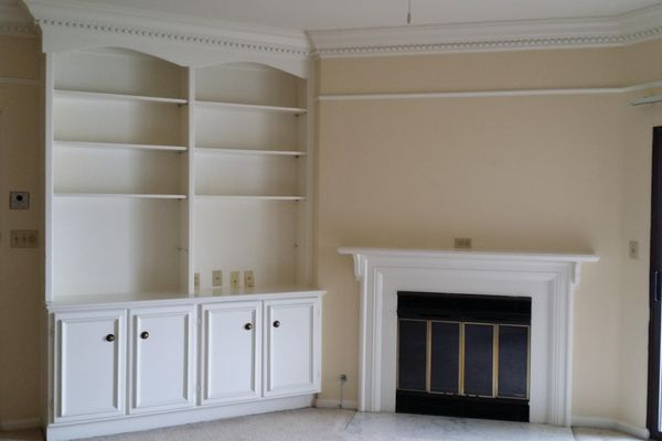 Wood burning fireplace, crown molding in select units