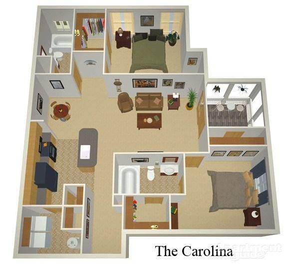 Zoom Image 6 The Carolina 2bed 2bath