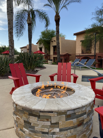 Fire Pits Around Pool Area