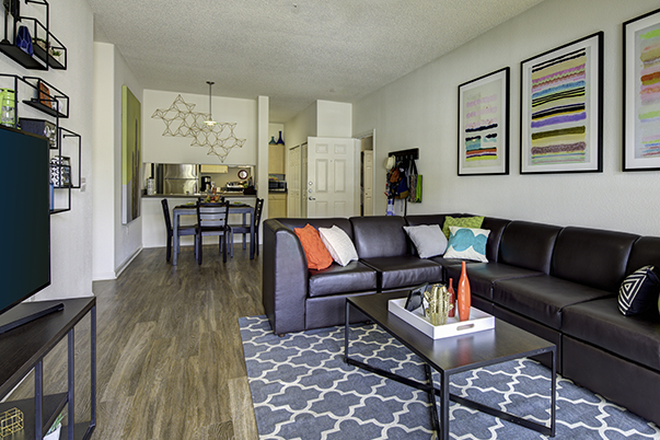 Living area - Aggie Station Apartments