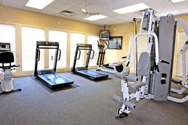 Fitness room - The Vistas at Dreaming Creek Apartments