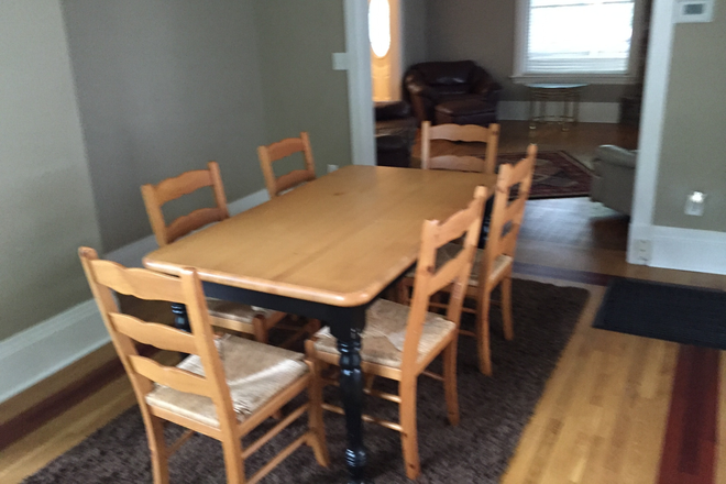 Dining R off kitchen, behind the Fam R - Excellent home in very good condition, main floor furnished; 4 Br + Den, 5-Star Landlord Rental