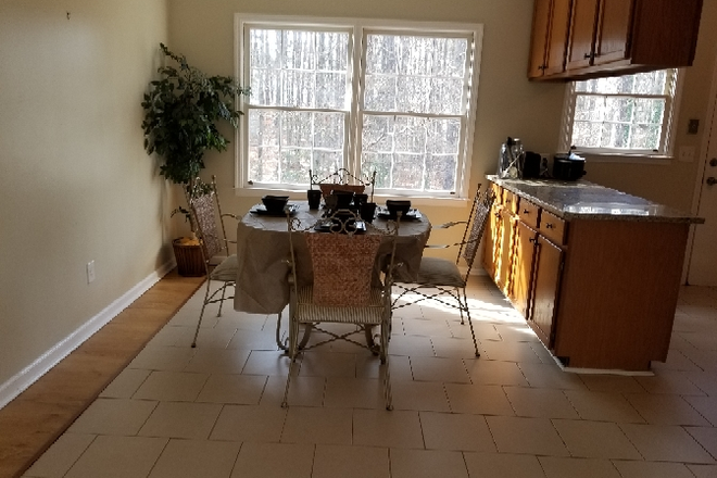 dining room - Nicely renovated single family home for rent 10 minutes from KSU. Rental