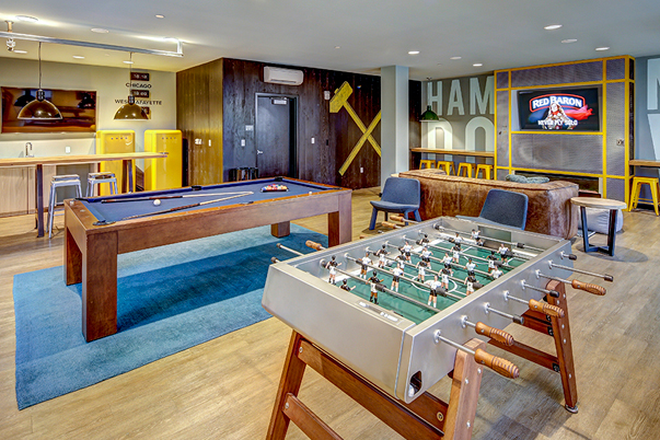 Clubhouse with games