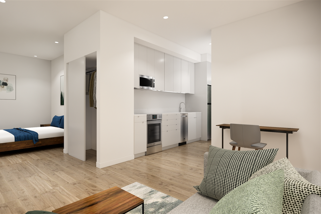 Interior Rendering of Living Space - 26 Spring Street Apartments