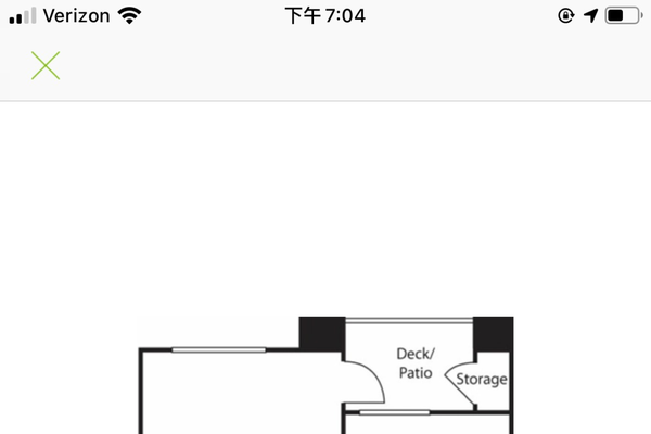 the layout of the apartment