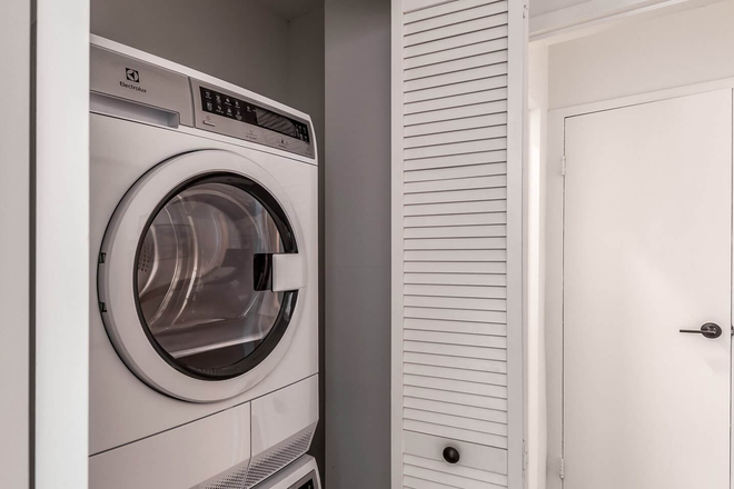 Washer and Dryer in every apartment home. - Dominion Apartments