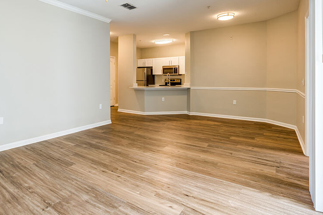Living Room w/ Wood-Style Flooring