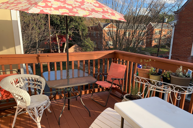 Upstairs Deck - Luxury Townhome at Small Building Near AU/Mass.Ave. Sunny. Covid-Safe.
