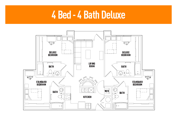 4 Bedroom - 4 Bathroom Deluxe
