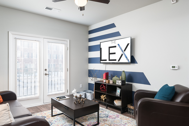 Living Area - The Lex Apartments