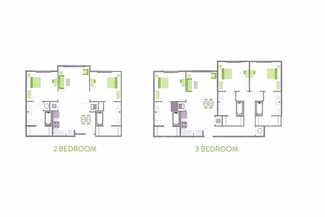 2 & 3 Bed options