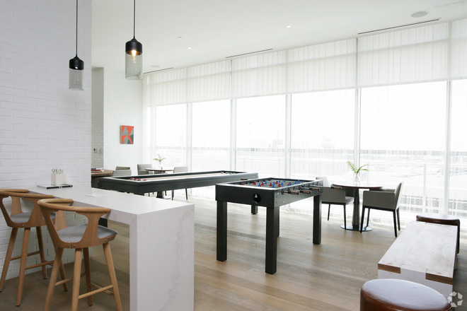 Game room with amazing Inner Harbor views!