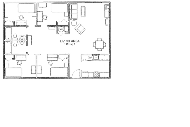 Floor Plan - 4 Bedroom on the Corner! Multiple Apartments Available