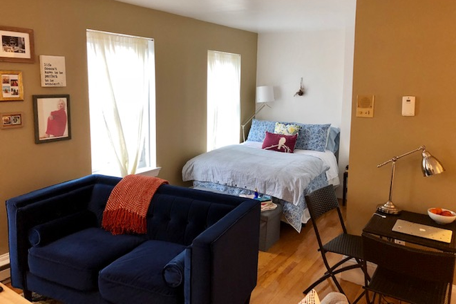BED/LIVING ROOM - TRULY SPECTACULAR STUDIO CONDOMINIUM AVAILABLE AT 523 COLUMBUS AVENUE IN THE SOUTH END FROM 6/1/2021