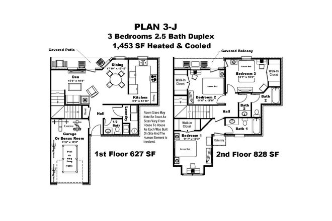 Floor Plan With Room Sizes