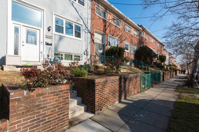 Street iew - Basement Suite in Solar Powered DC Townhouse w/ All Utilities/Cleaning Included