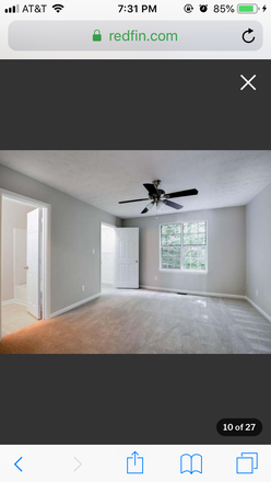Bedroom - Private bedroom and bathroom, living room & kitchen. Five mins drive to KSU Main Campus Townhome