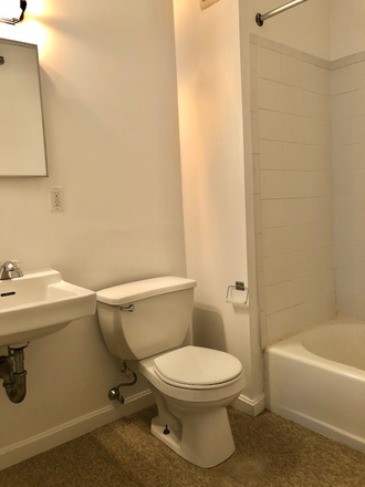 BATHROOM - SUN SPLASHED & RENOVATED STUDIO WITH HARDWOOD FLOORS AT 1061 BEACON STREET AVAILABLE 9/1/2021 Apartments
